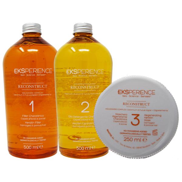 eksperience  Eksperience Kit Reconstruct Filler + Olio Detergente + Maschera ...