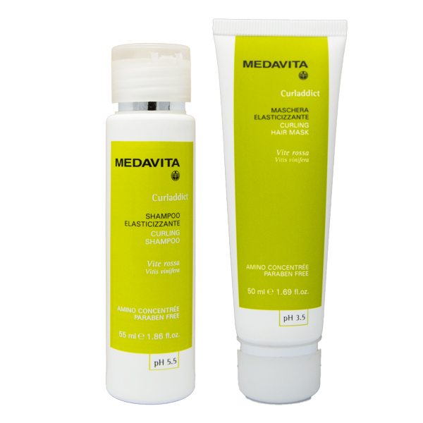 Medavita Travel Kit Curl Addict Shampoo + Maschera