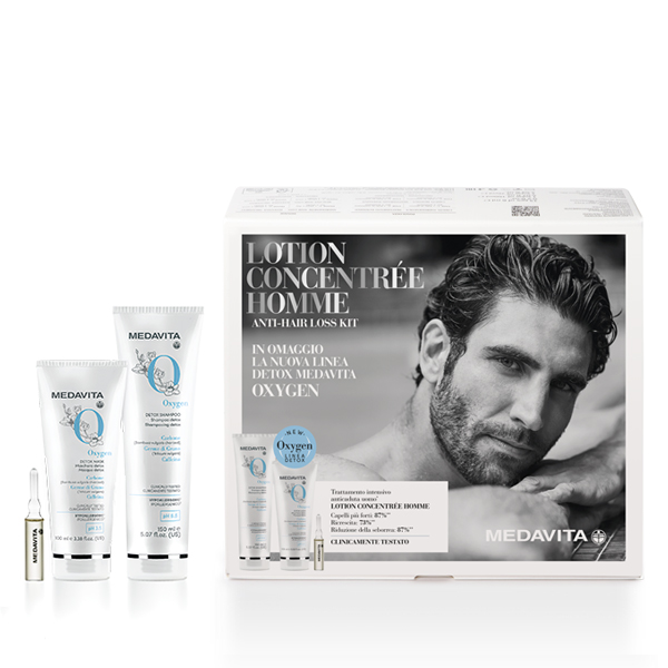 Medavita Lotion Concentrée Homme Anti-Hairloss Kit Fiale +  NUOVA LINEA DETOX OXYGEN IN OMAGGIO
